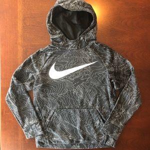 Nike Boys Large Hoodie black and white